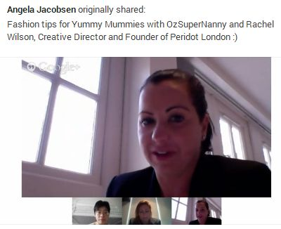 Ozsupernanny Google Hangout with Rachel Wilson, founder of Peridot London, discusses eczema clothing