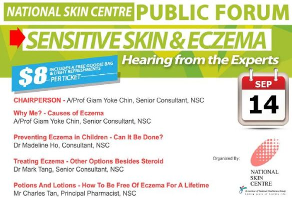 Do attend this informative public forum on eczema and sensitive skin!