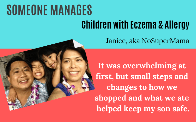 Someone manages children with eczema and allergy Janice story on EczemaBlues