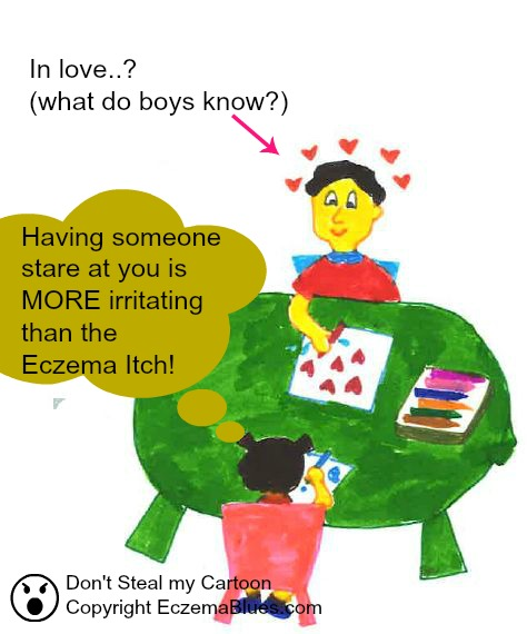 Eczema Itch - Distraction and Irritation cartoon