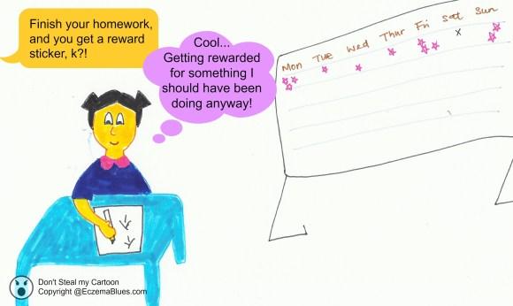 Eczema_Cartoon_Reward_Preschooler