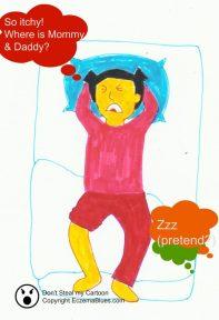 Sleep scratching eczema child