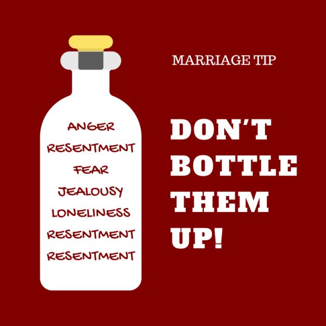 Marriage Tip Feelings Bottled Up