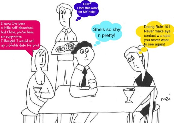 Pregnancy Cartoon Double Date with BFF and Dating Rule 101