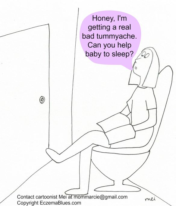 Mom NeedyZz cartoon Toilet the Way to Get Sleep