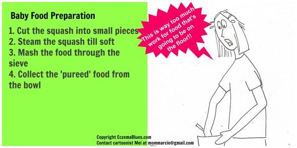 Mom NeedyZz Cartoon Baby Food Preparation