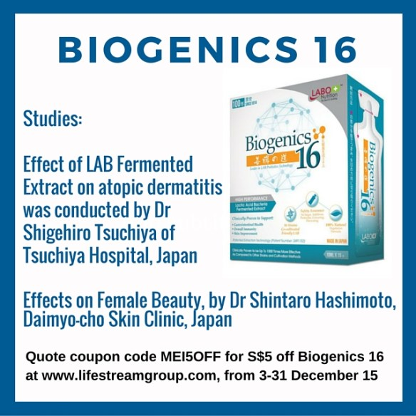 Studies on Biogenics Probiotic extract kids health and skin