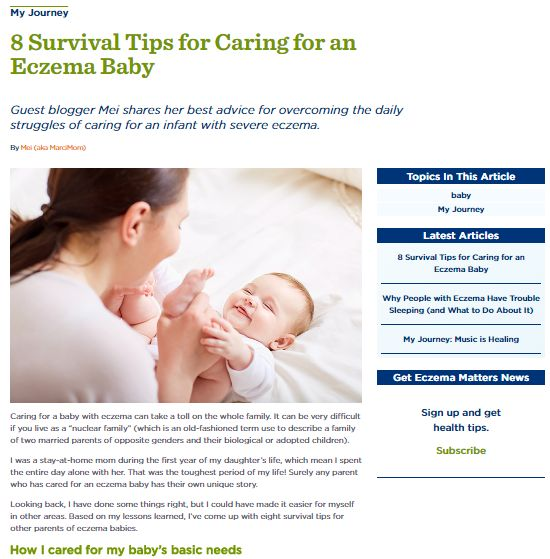 My eczema survival tips shared on NEA