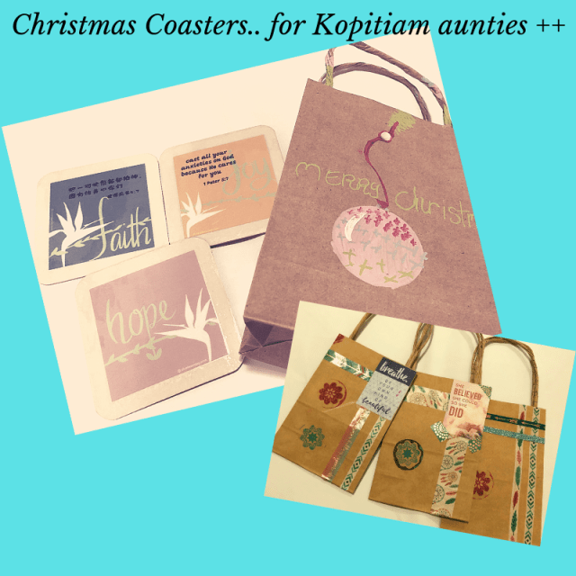 Christmas Coasters Grace Project in Singapore EczemaBlues