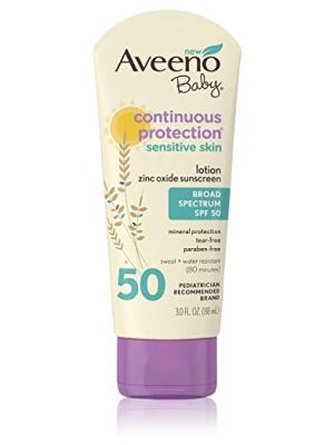 aveeno baby sunscreen sof50