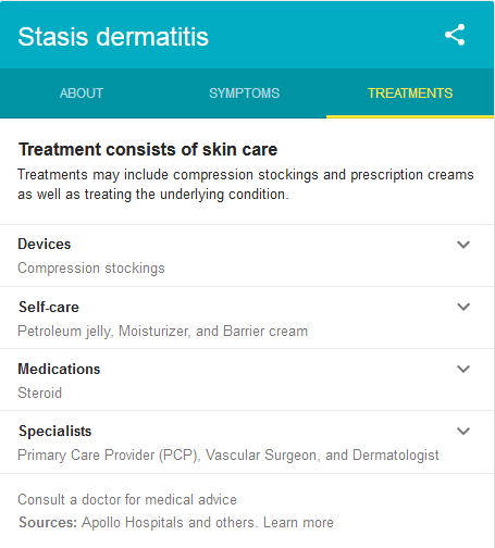 How is Stasis Dermatitis Treated