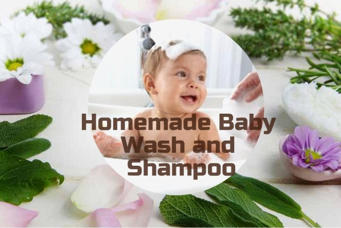 Homemade baby wash and shampoo