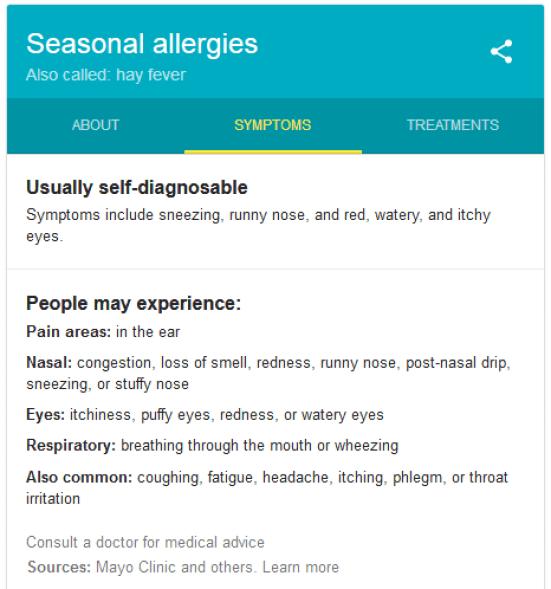 seasonal allergies symptoms