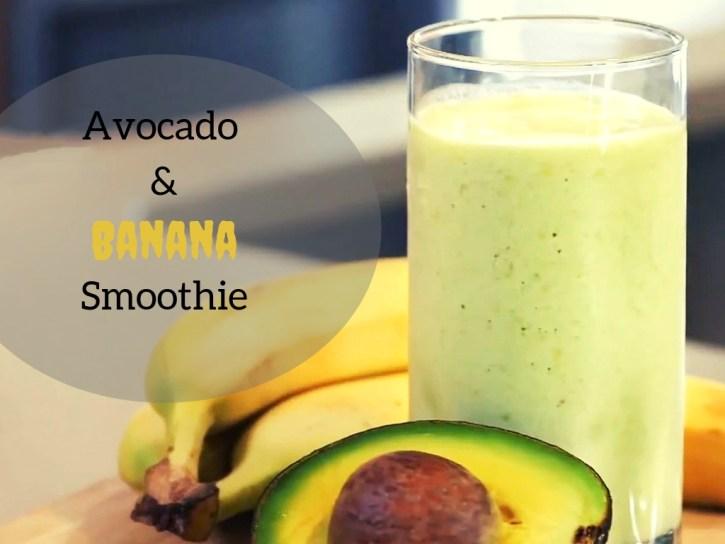 Avocado And Banana Healthy Skin Smoothie Recipe for Eczema