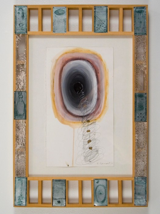 "Elba Damast, ""Estudio 26,"" 1991 Custom frame, acrylic and ink on paper.64cm X 49cm Collection of the family"