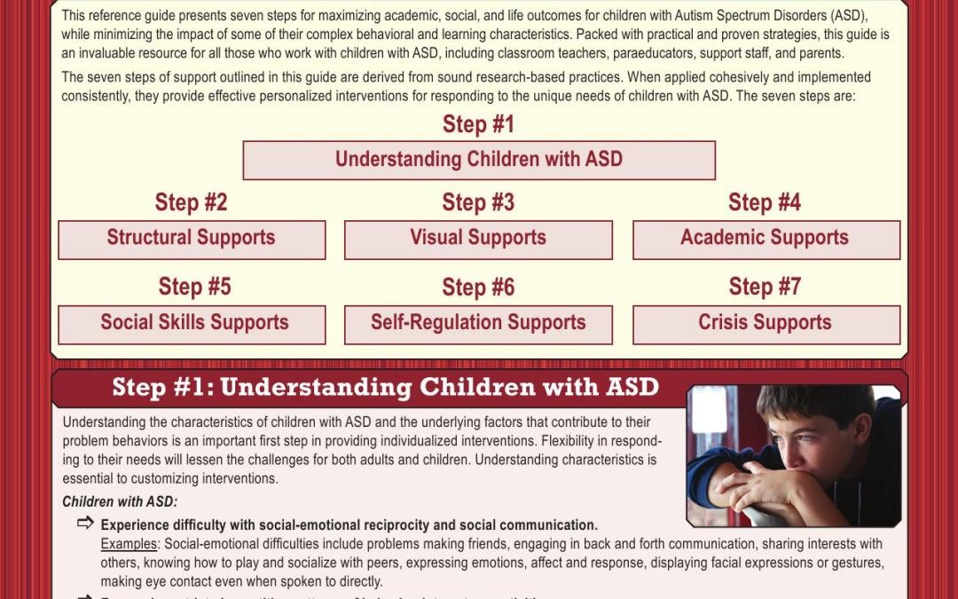 Autism Spectrum Disorders (ASD): Seven Steps of Support