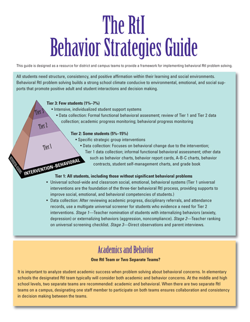 The RTI Behavior Strategies Guide
