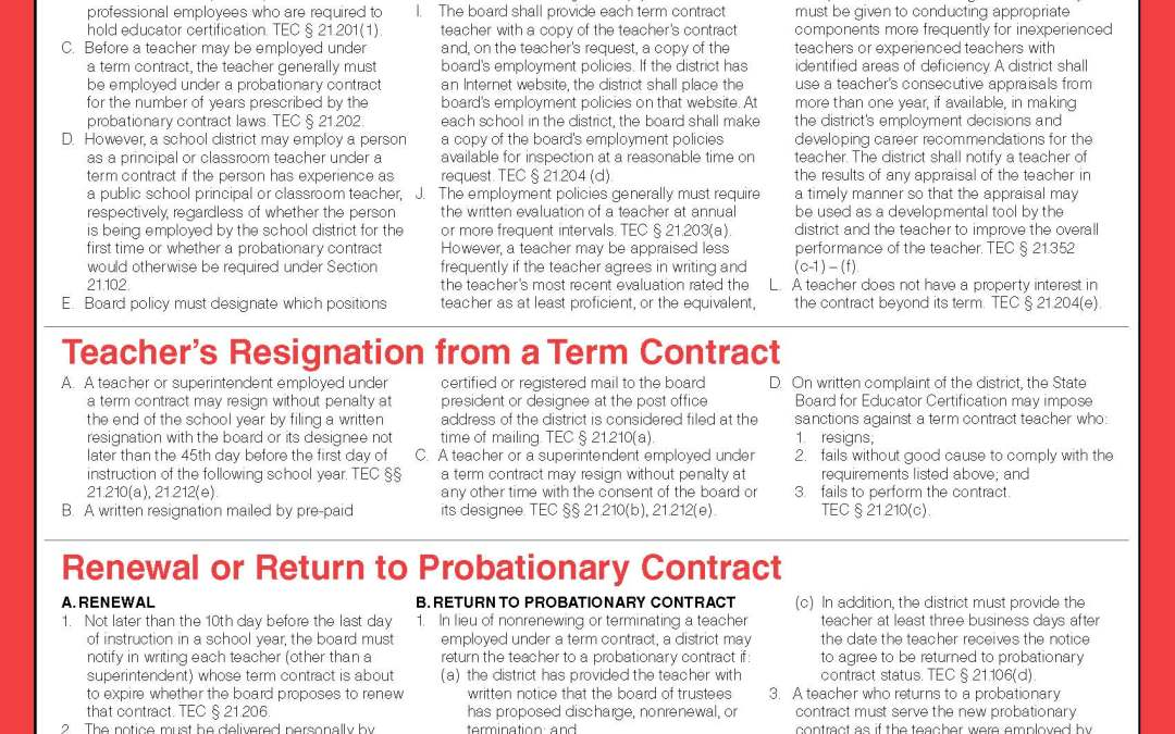 Term Contract Guide