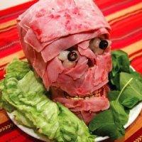 """""""Мясная голова"""" - самое потрясающее блюдо на Хэллоуин!  (рецепт)"""