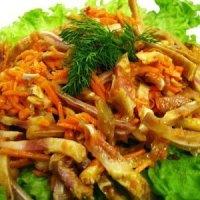 Салат из свиной шкурки