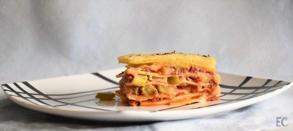 Lasaña con pasta fresca