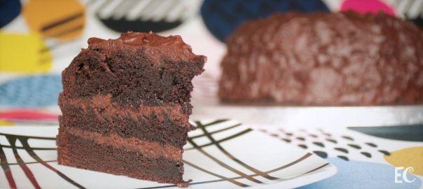 Corte de Tarta de chocolate
