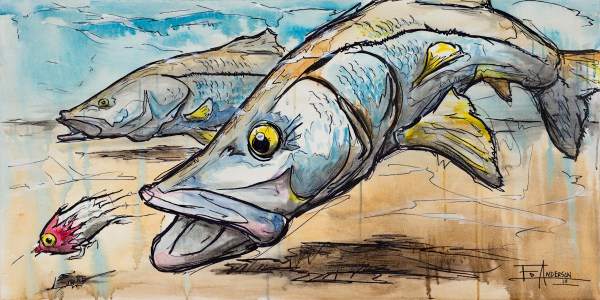 Snooks-Ed Anderson Art-Gulfshore Life Magazine