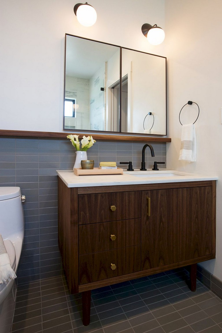 29+ Amazing Modern Mid Century Bathroom Remodel Ideas ...