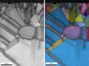 figure 2 - HR t-EBSD mapping