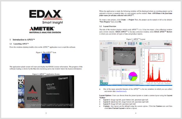 The EDAX APEX™ User Manual.