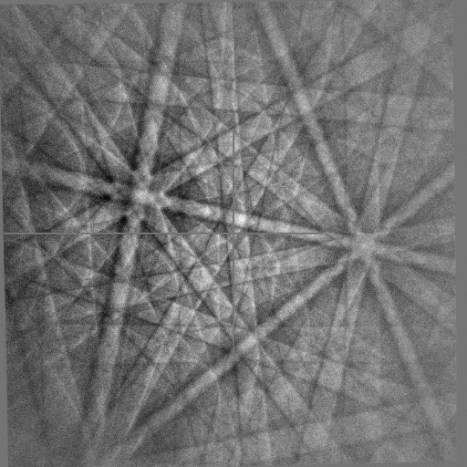 5 kV EBSD pattern at 100 pA