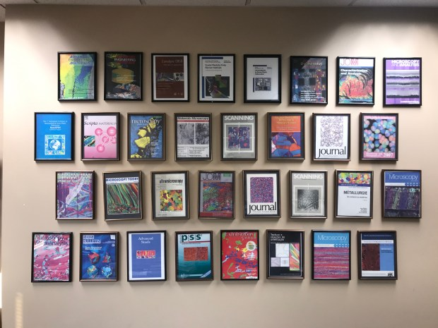 Our EBSD cover collection.