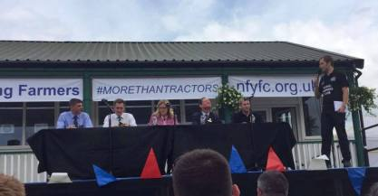 YFC @ GYS Vice Chairman, Ed Bentley, introduces the 2017 Debate Panellists