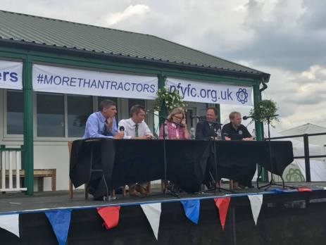 The panel discuss the balance between food and environment and the role farmers must player in educating the public