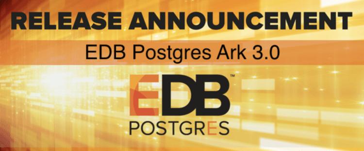 EDB Postgres Ark 3.0