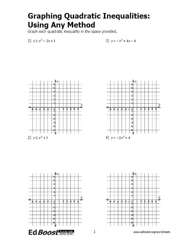 29 Solving Quadratic Inequalities Worksheet Answers