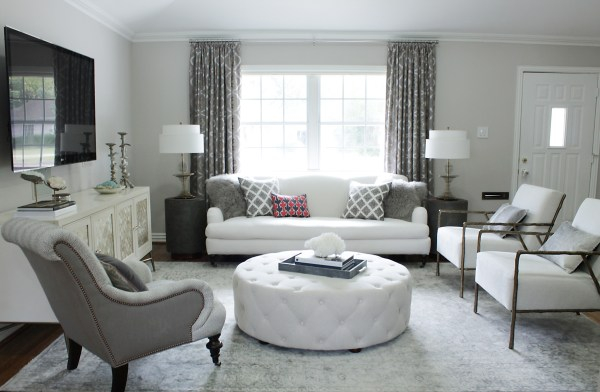 small space living room makeover Before &, After: An Elegant, Budget-Friendly Living Room Makeover