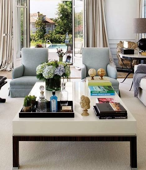 round coffee table tray decorating ideas 20 Best Coffee Table Styling Ideas - How To Decorate A Square Or Round Coffee Table