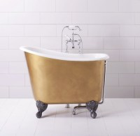 9 Small Bathtubs  Tiny Bath Tub Sizes - ElleDecor.com