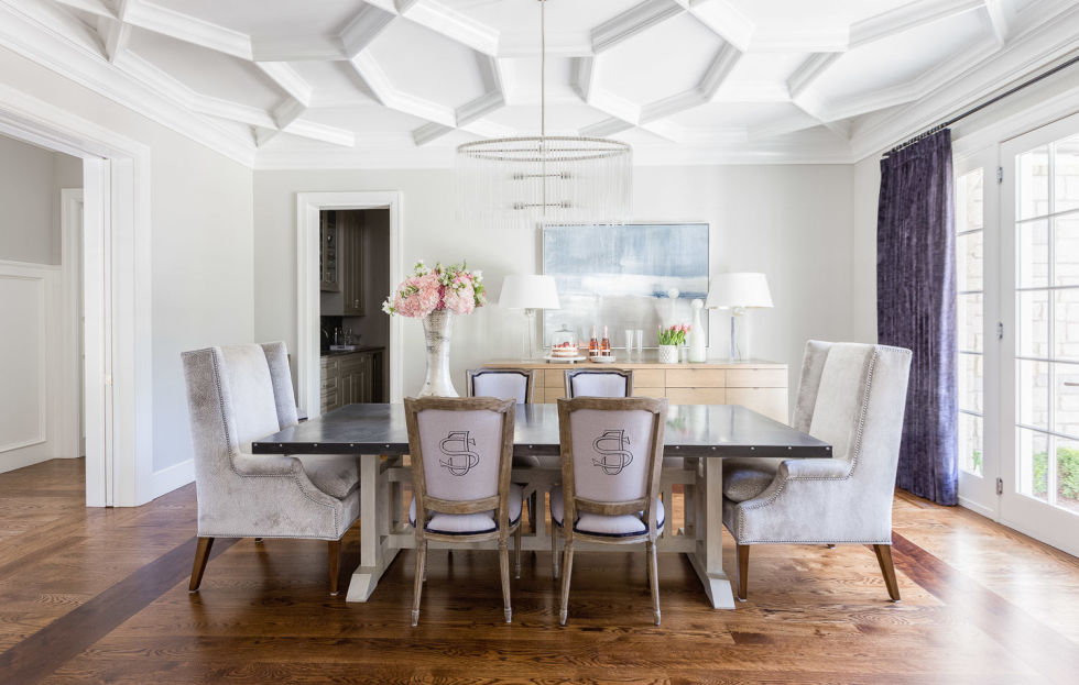 We are beyond ready for sit-down family meals to make a comeback, and thankfully, more homeowners are opting to keep their formal dining rooms instead of converting them into media rooms or offices, says Houzz. Here's hoping they're all as stylish as the pale purple number here.