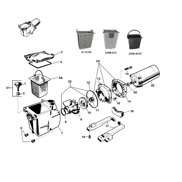 hayward super pump hand knob kit water cycle diagram black and white sp2607x10 high performance 1hp pool pump, 115v/230v