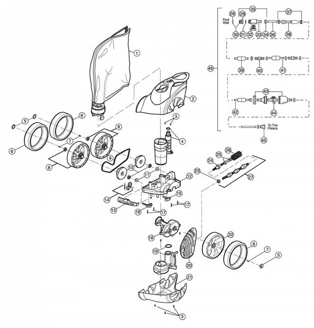 [WRG-0721] Polaris Phoenix 200 2010 Engine Diagram