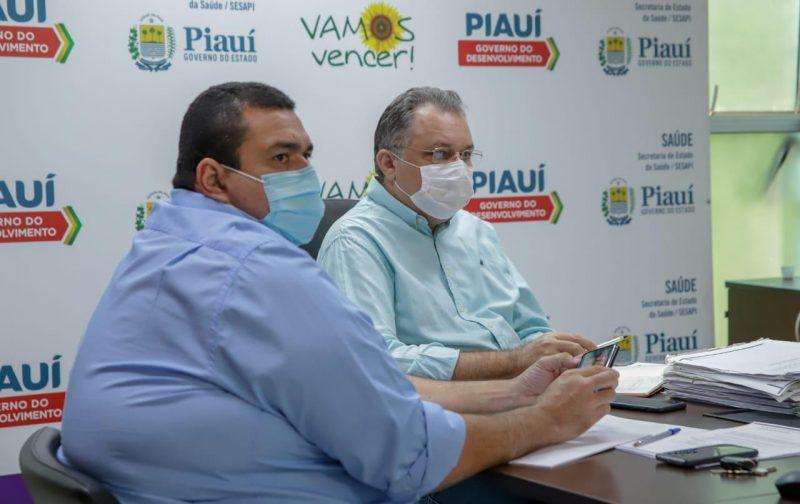 Florentino Neto (D) participa de reunião virtual ( Foto: Divulgação)