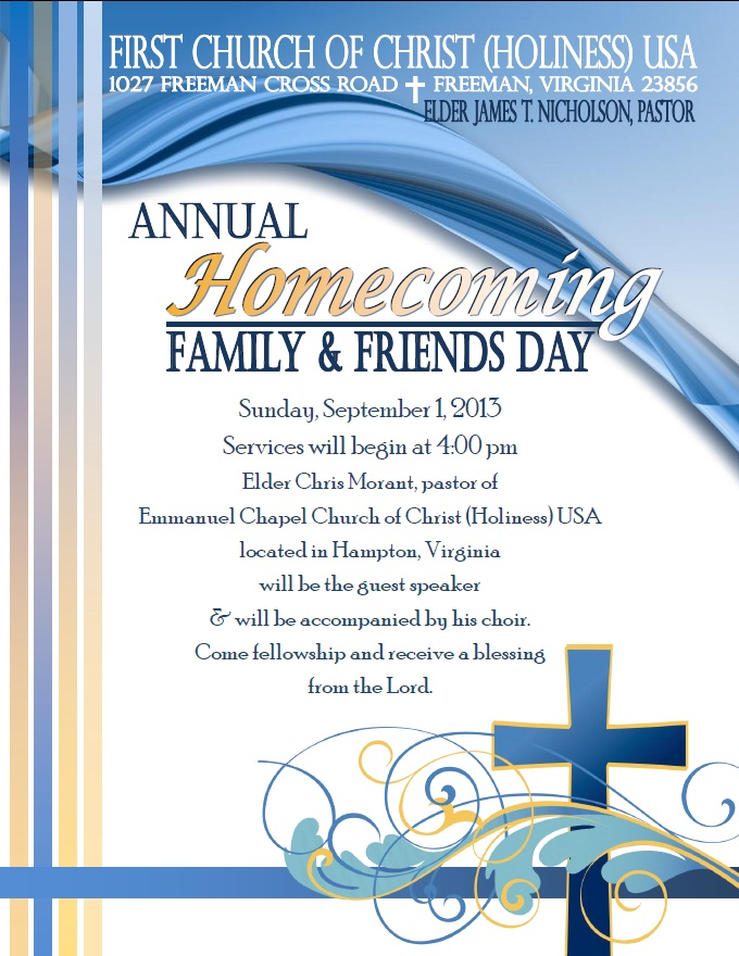 2013 Homecoming Flyer