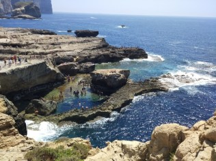 Arriving to Azure window from the top