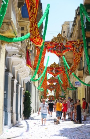Decorated side street