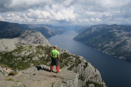 Looking at the views of Lysefjorden