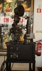 A Moviola in the cinema museum