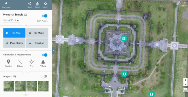 DroneDeploy 2d Map of Balinese Temple
