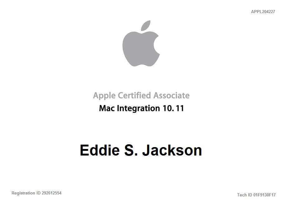Apple certified